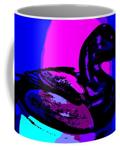 Canvasback Coffee Mug featuring the photograph Canvasback Floating At Sunrise by George Pedro