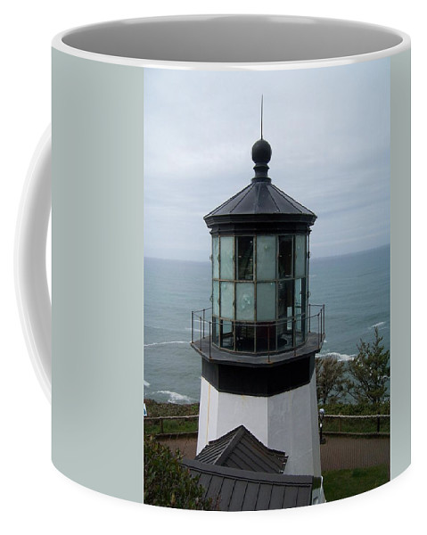 Sky Coffee Mug featuring the photograph Cape Meares Lighthouse by Peter Mooyman