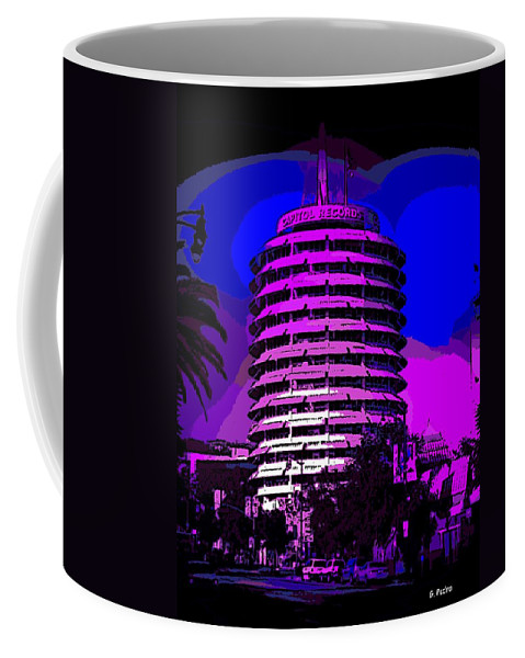 Abstract Coffee Mug featuring the photograph Capitol Records Building by George Pedro