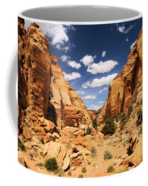 Capitol Reef National Park Coffee Mug featuring the photograph Capitol Reef Cohab Canyon by Adam Jewell