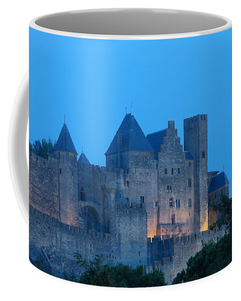 Carcassonne Coffee Mug featuring the photograph Carcassonne At Twilight by Greg Matchick