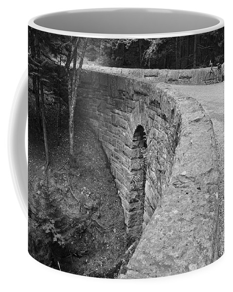 Carriage Coffee Mug featuring the photograph Carriage Path Bridge by David Rucker