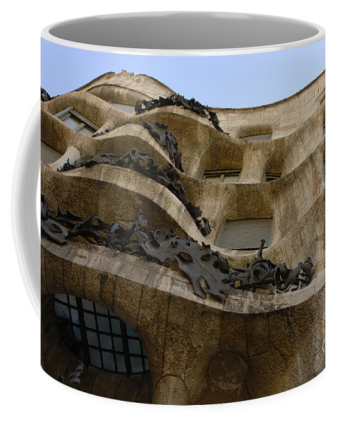 Casa Mila Coffee Mug featuring the photograph Casa Mila Barcelona by Bob Christopher