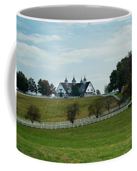 Farm Coffee Mug featuring the photograph Castle Barn 3 by Douglas Barnett