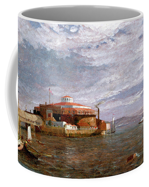 View Coffee Mug featuring the painting Castle Garden Day by Jasper Francis Cropsey