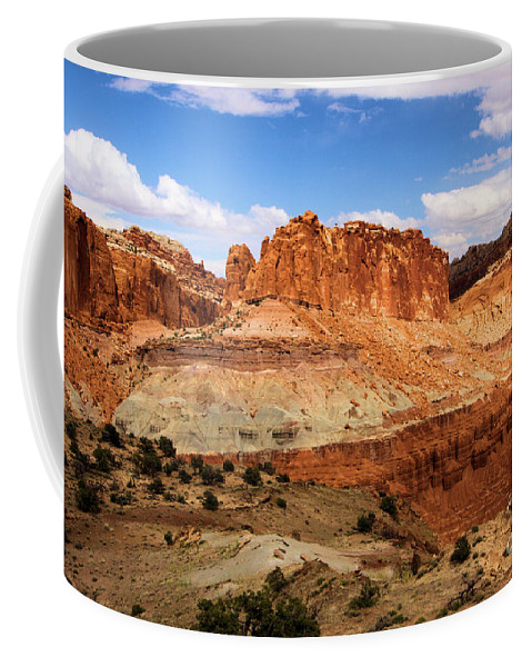 Castle Coffee Mug featuring the photograph Castle In The Distance by Adam Jewell