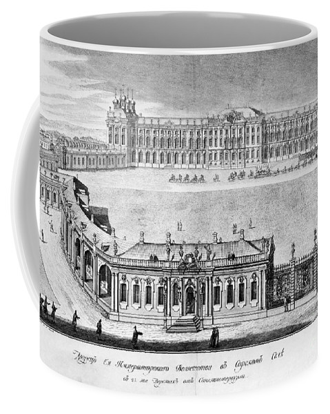1761 Coffee Mug featuring the photograph Catherine Palace, 1761 by Granger