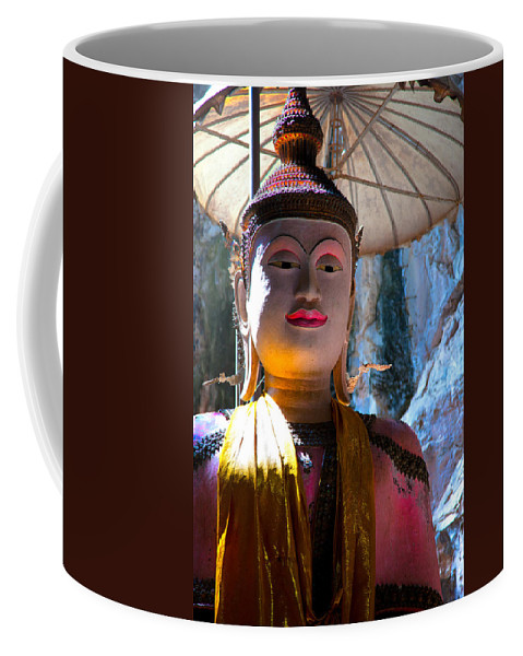 Ancient Coffee Mug featuring the photograph Cave Buddha by Adrian Evans