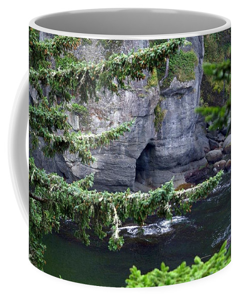 Beautiful Cape Flattery Coffee Mug featuring the photograph Cave Of The Bay by Christy Leigh