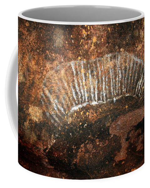 Witchittey Grub Coffee Mug featuring the photograph Cave Painting Of A Witchittey Grub by Laurel Talabere