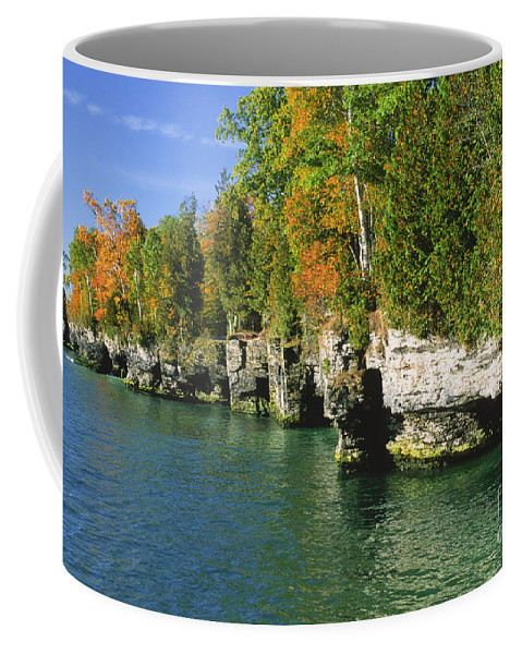 Bronstein Coffee Mug featuring the photograph Cave Point Cove by Sandra Bronstein