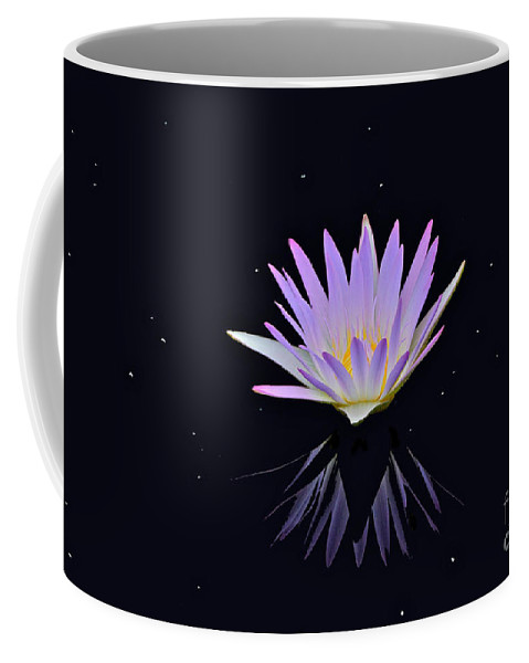 Lavender Tropical Waterlily Coffee Mug featuring the photograph Celestial Waterlily by Byron Varvarigos