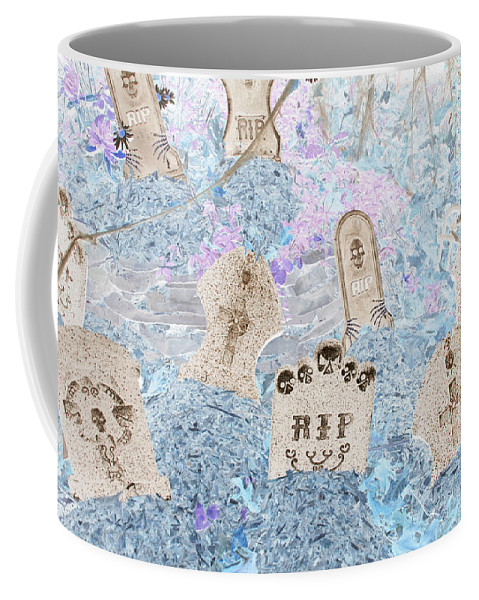 Halloween Coffee Mug featuring the photograph Cemetery Invert by Richard Bryce and Family