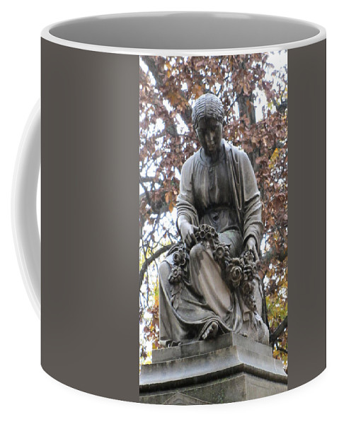 Cemetery Coffee Mug featuring the photograph Cemetery Statue 4 by Anita Burgermeister