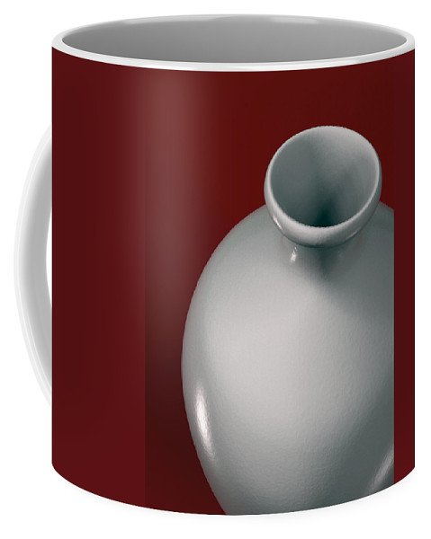 Vase Coffee Mug featuring the digital art Ceramic Vase by Richard Rizzo