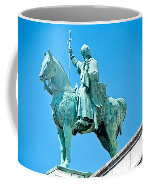 France Coffee Mug featuring the photograph Chalemagne At Sacre Coeur Basilica by Jon Berghoff