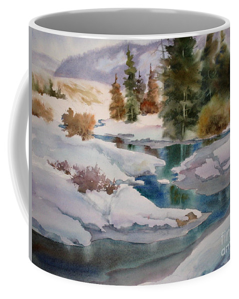 Trees Coffee Mug featuring the painting Changing Seasons by Mohamed Hirji