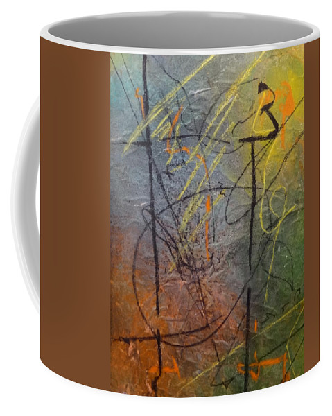 Coffee Mug featuring the painting Chaos Theory by Ronald Brischetto