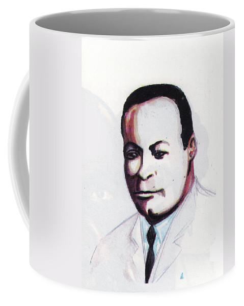 Portraits Coffee Mug featuring the painting Charles Richard Drew by Emmanuel Baliyanga