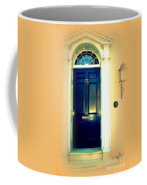 Charleston Coffee Mug featuring the photograph Charleston Door 3 by Susanne Van Hulst