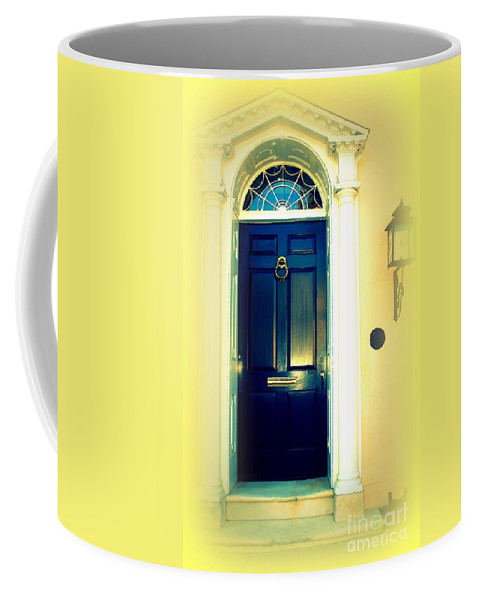 Charleston Coffee Mug featuring the photograph Charleston Door 4 by Susanne Van Hulst