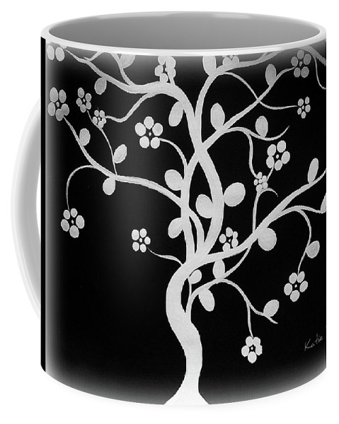 Japanese Cherry Blossom Coffee Mug featuring the painting Cherry Blossom by Katie Slaby