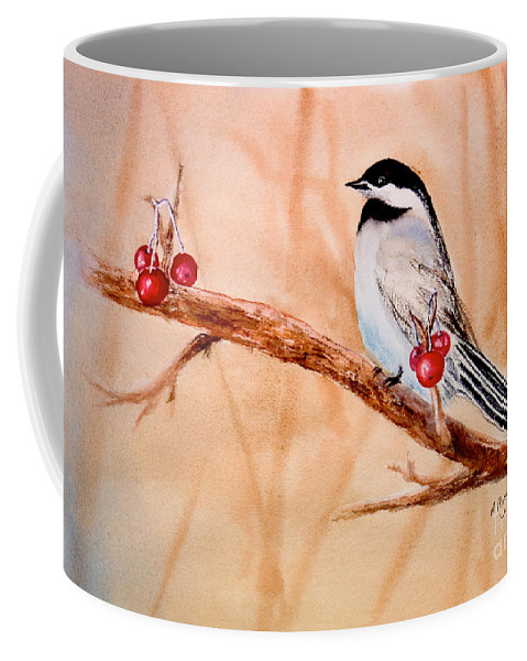 Coffee Mug featuring the painting Cherry Picker by Mohamed Hirji