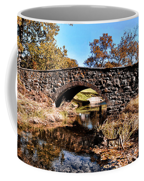 Chester County Bow Bridge Coffee Mug featuring the photograph Chester County Bow Bridge by Bill Cannon