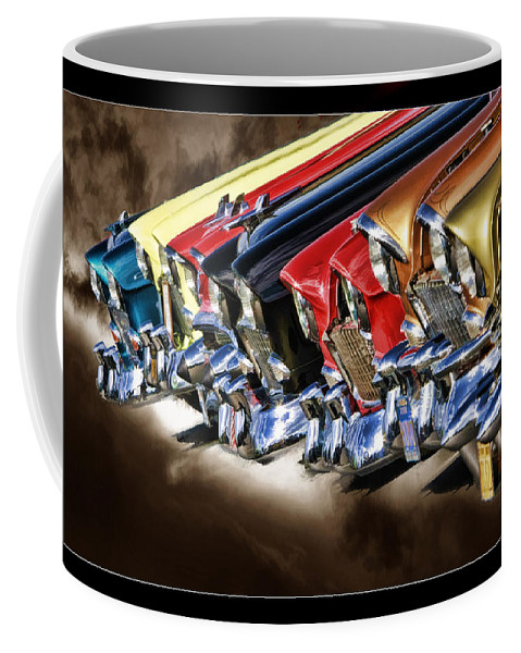 Art Photography Coffee Mug featuring the photograph Chevy Line Up by Blake Richards