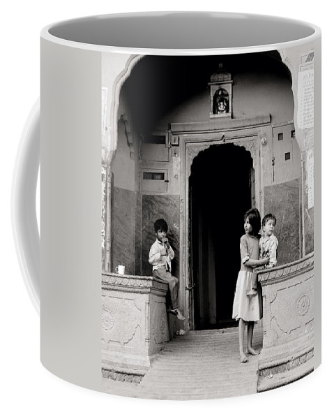 India Coffee Mug featuring the photograph Childhood In Jaipur by Shaun Higson