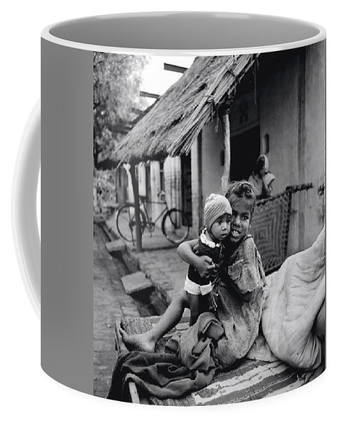 Asia Coffee Mug featuring the photograph Children In Agra In India by Shaun Higson