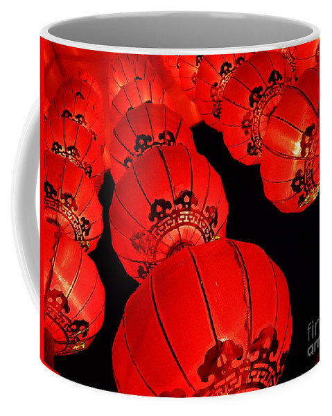 Asia Coffee Mug featuring the photograph Chinese Lanterns 3 by Xueling Zou