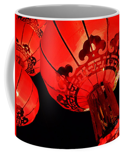 Asia Coffee Mug featuring the photograph Chinese Lanterns 4 by Xueling Zou