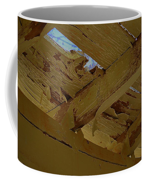 Old Peeling Ceiling Coffee Mug featuring the photograph Chink by Diane montana Jansson