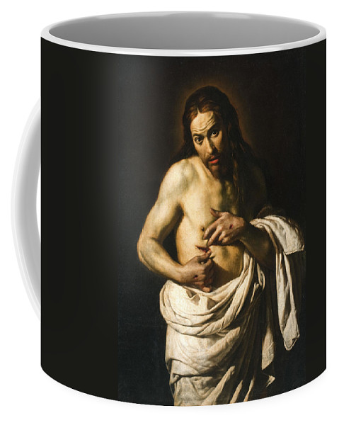Giacomo Galli Coffee Mug featuring the painting Christ Displaying His Wounds by Giacomo Galli