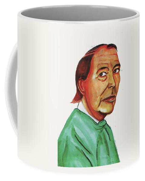 Portraits Coffee Mug featuring the painting Christiann Barnard by Emmanuel Baliyanga