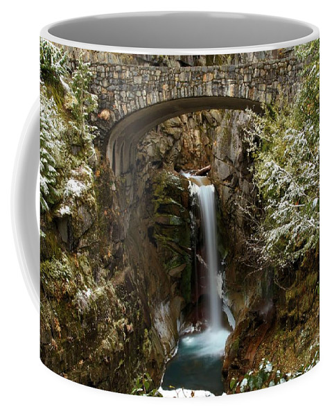Christine Falls Coffee Mug featuring the photograph Christine Under The Bridge by Adam Jewell