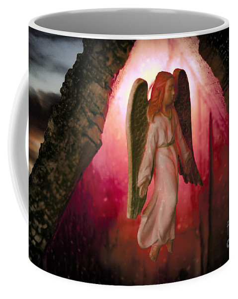Angel Coffee Mug featuring the photograph Christmas Angel by David Arment