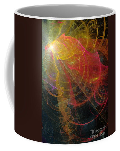 Abstract Coffee Mug featuring the digital art Christmas Bells 2 by Russell Kightley