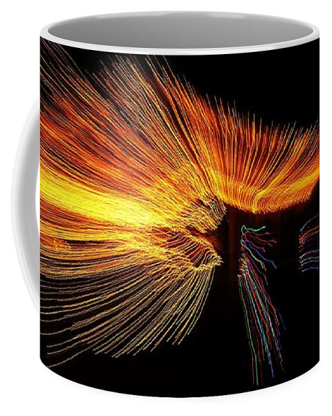 Coffee Mug featuring the photograph Christmas Lights Wave by Mark Valentine