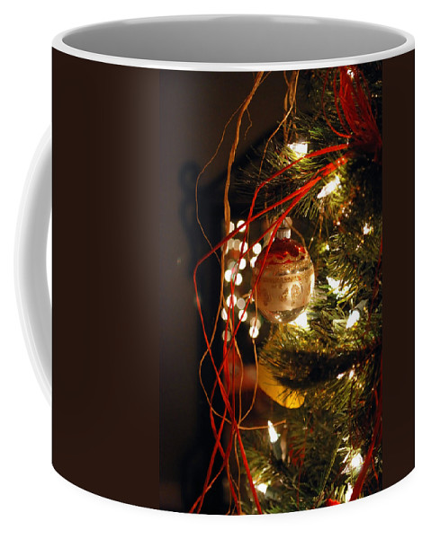 Festive Coffee Mug featuring the photograph Christmas Ornament by Charles Bacon Jr