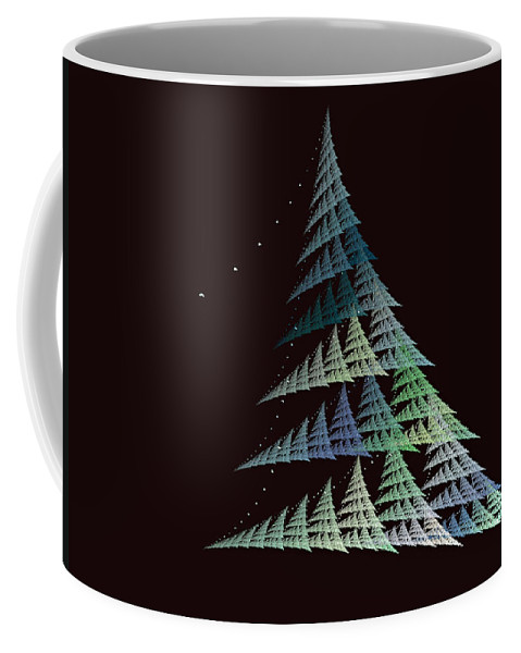 Christmas Trees Coffee Mug featuring the digital art Christmas Trees by Lynn Bolt