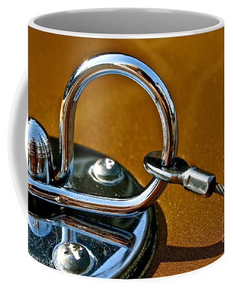 Auto Coffee Mug featuring the photograph Chrome Lock by Susan Herber