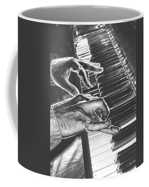 Piano Coffee Mug featuring the photograph Chrome Piano Man by Michael Merry