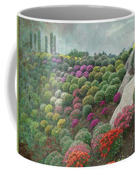 Chrysanthemum Coffee Mug featuring the photograph Chrysanthemum Garden - Ott's Greenhouse Schwenksville Pa by Mother Nature