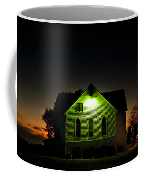 Landscape Coffee Mug featuring the photograph Church At Sunset by Cale Best