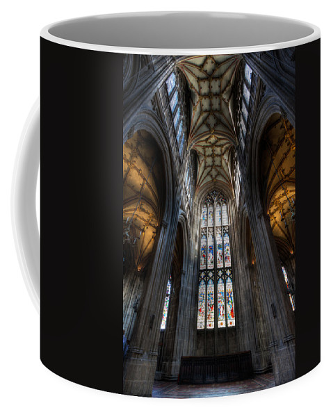 Cathedral Coffee Mug featuring the photograph Church Interior by Adrian Evans