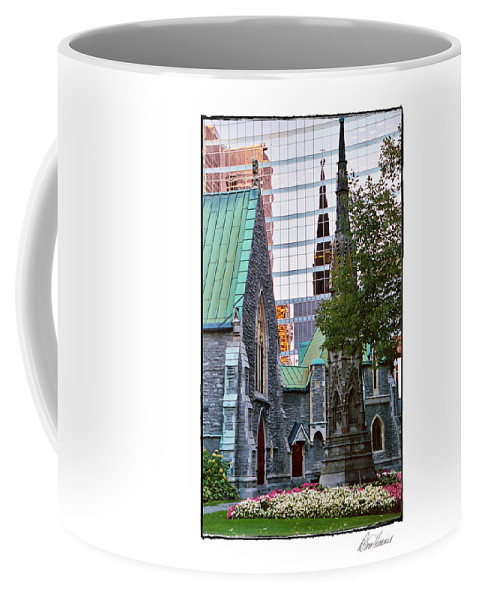 Church Coffee Mug featuring the photograph Church Reflections by Diana Haronis