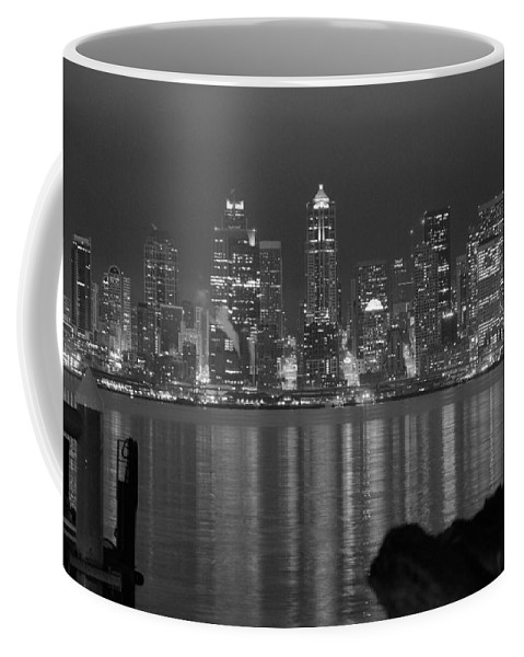 Cityscape Coffee Mug featuring the photograph City At Dawn by Michael Merry