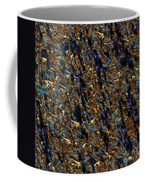 Fractal Coffee Mug featuring the digital art Clara-code 1. by Klara Acel
